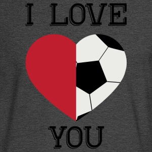 i love you soccer - Men's Long Sleeve T-Shirt
