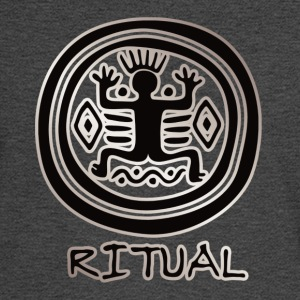 Ritual #9 (Inca, Silver & Black) - Men's Long Sleeve T-Shirt