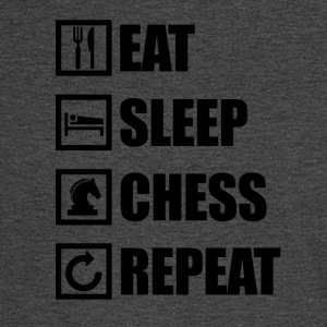 EAT SLEEP CHESS REPEAT - Men's Long Sleeve T-Shirt