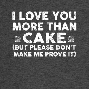 Love you more than cake - Men's Long Sleeve T-Shirt