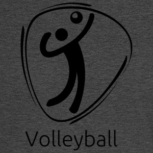 Volleyball_black - Men's Long Sleeve T-Shirt