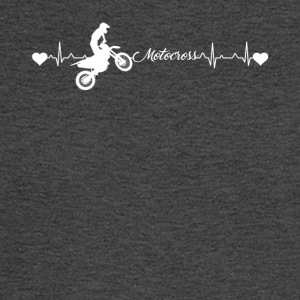 Motocross Heartbeat Shirt - Men's Long Sleeve T-Shirt