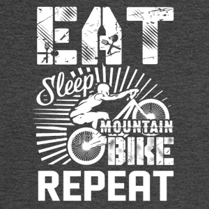 Eat Sleep Mountain Bike Shirt - Men's Long Sleeve T-Shirt
