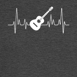 Acoustic Guitar Heartbeat Shirt - Men's Long Sleeve T-Shirt