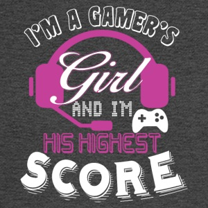 I'm A Gamer's Girl And I'm His Highest Score Shirt - Men's Long Sleeve T-Shirt