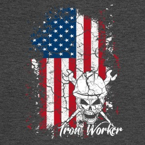 Iron Worker Flag Shirt - Men's Long Sleeve T-Shirt