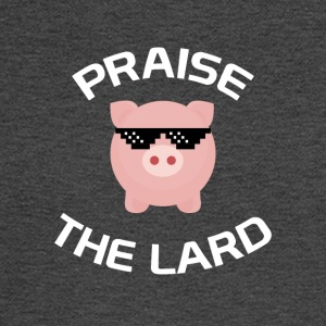 Praise The Lard Funny Bacon T-Shirt - Men's Long Sleeve T-Shirt
