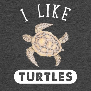 I like turtles - Men's Long Sleeve T-Shirt