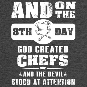 God Created Chef on 8th Day - Men's Long Sleeve T-Shirt