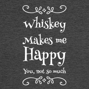 whiskey makes me happy you not so much - Men's Long Sleeve T-Shirt