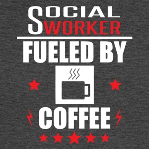 Social Worker Fueled By Coffee - Men's Long Sleeve T-Shirt