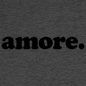 Amore - Fun Design (Black Letters) - Men's Long Sleeve T-Shirt