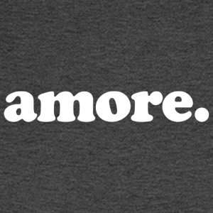 Amore - Fun Design (White Letters) - Men's Long Sleeve T-Shirt