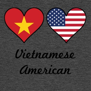 Vietnamese American Flag Hearts - Men's Long Sleeve T-Shirt
