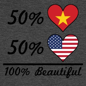 50% Vietnamese 50% American 100% Beautiful - Men's Long Sleeve T-Shirt