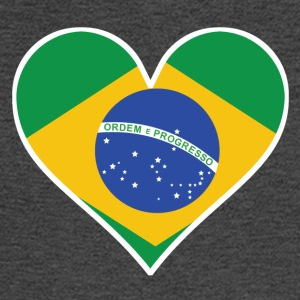 Brazilian Flag Heart - Men's Long Sleeve T-Shirt