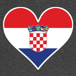 Croatian Flag Heart - Men's Long Sleeve T-Shirt