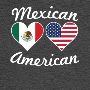 Mexican American Flag Hearts - Men's Long Sleeve T-Shirt