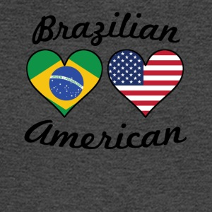 Brazilian American Flag Hearts - Men's Long Sleeve T-Shirt