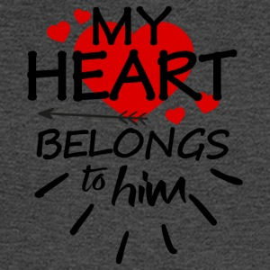 My heart belongs to him - Men's Long Sleeve T-Shirt