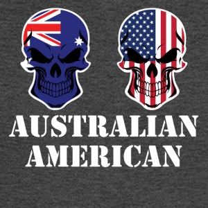 Australian American Flag Skulls - Men's Long Sleeve T-Shirt