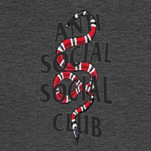 Anti social social club x snake - Men's Long Sleeve T-Shirt