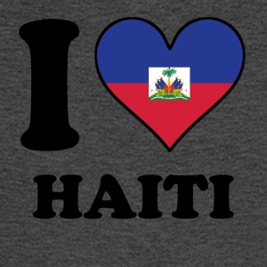 I Love Haiti Haitian Flag Heart - Men's Long Sleeve T-Shirt
