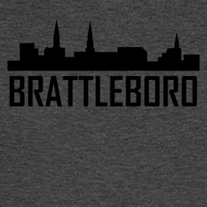 Brattleboro Vermont City Skyline - Men's Long Sleeve T-Shirt