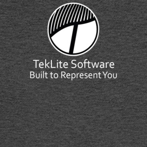 White TekLite Software Logo Design - Men's Long Sleeve T-Shirt