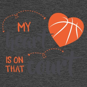 my heart is on that court - Men's Long Sleeve T-Shirt