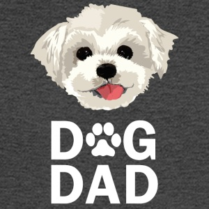 Dog Dad Maltese Funny Fathers Day Gift Paw - Men's Long Sleeve T-Shirt