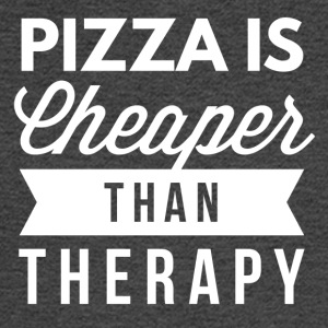 Pizza is cheaper than therapy - Men's Long Sleeve T-Shirt