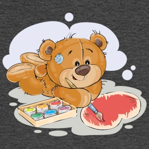 paint brush artist teddy bear - Men's Long Sleeve T-Shirt