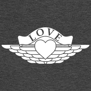 Love - Wings Design (White Fill) - Men's Long Sleeve T-Shirt
