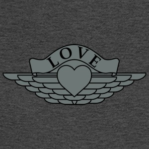 Love - Wings Design (Silver/Black) - Men's Long Sleeve T-Shirt