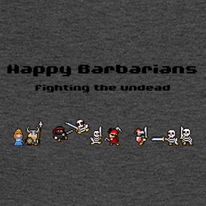 Happy Barbarians - fighting the undead - Men's Long Sleeve T-Shirt