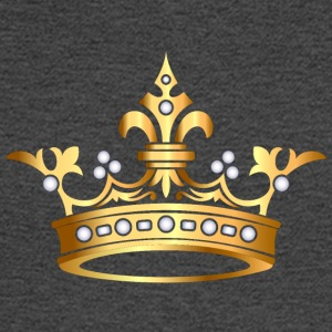 VIP Monarch Gold crown pearl jewels king - Men's Long Sleeve T-Shirt