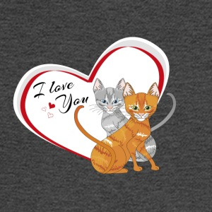 cat in love - Men's Long Sleeve T-Shirt