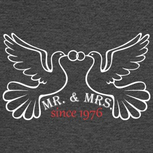 Mr And Mrs Since 1976 Married Marriage Engagement - Men's Long Sleeve T-Shirt
