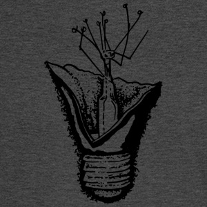 Broken Lightbulb (Black) - Men's Long Sleeve T-Shirt