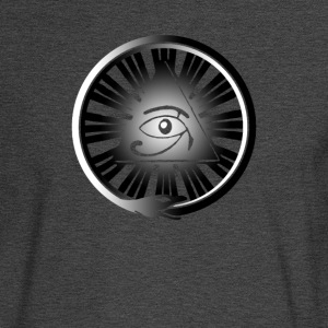 All Seeing Eye with Ouroboros & Yin/Yang Gradient - Men's Long Sleeve T-Shirt