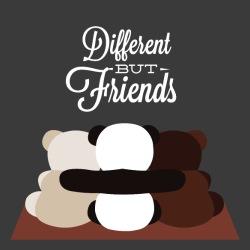Different but friends