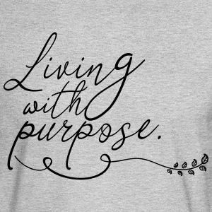 Living with Purpose - Men's Long Sleeve T-Shirt