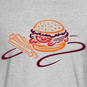 Big burger with tomato and french fries - Men's Long Sleeve T-Shirt