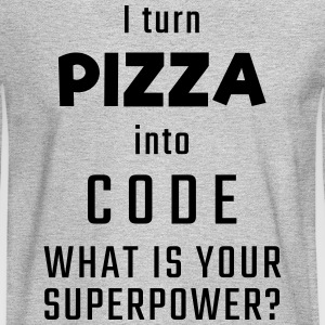 I turn PIZZA into CODE - What is your superpower? - Men's Long Sleeve T-Shirt