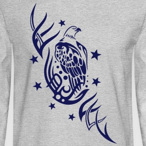 Eagle with tribal and stars. - Men's Long Sleeve T-Shirt