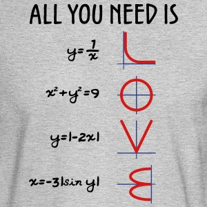 All you need is love (Equations) - Men's Long Sleeve T-Shirt