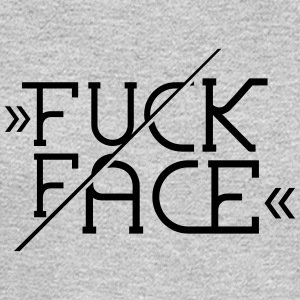Fuck Face - Typo - T-Shirt - Men's Long Sleeve T-Shirt