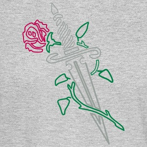 Rose with Knife - Men's Long Sleeve T-Shirt