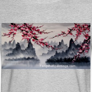 cherry-blossom-painting - Men's Long Sleeve T-Shirt